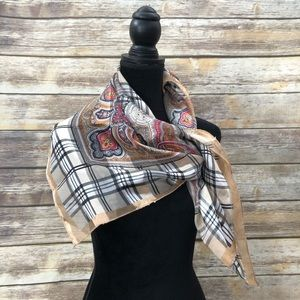 Accessories - Burberry look Paisley Scarf